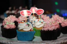 Cupcake para aniversário